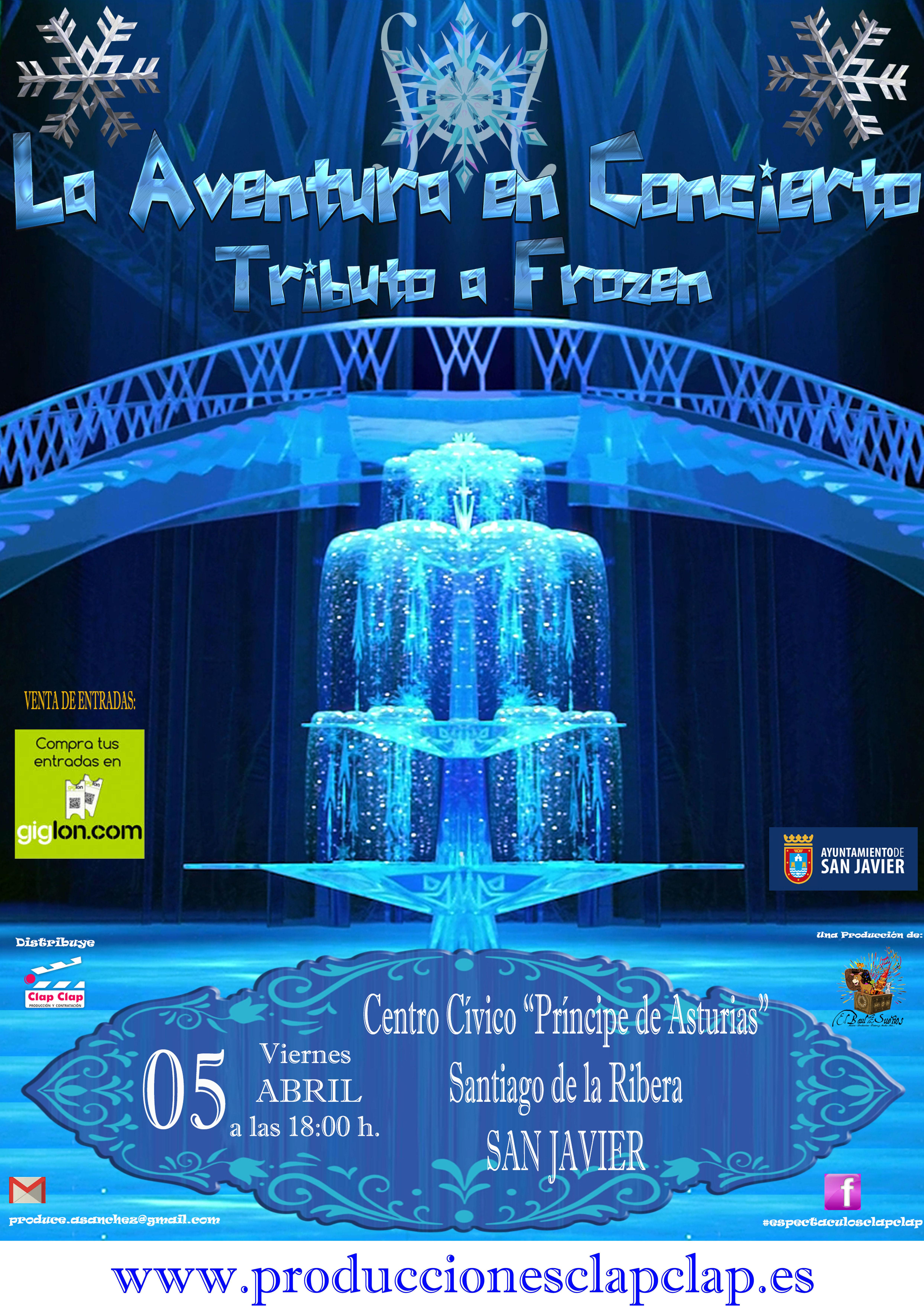 La Aventura en Concierto - Tributo Frozen - Santiago de La Ribera