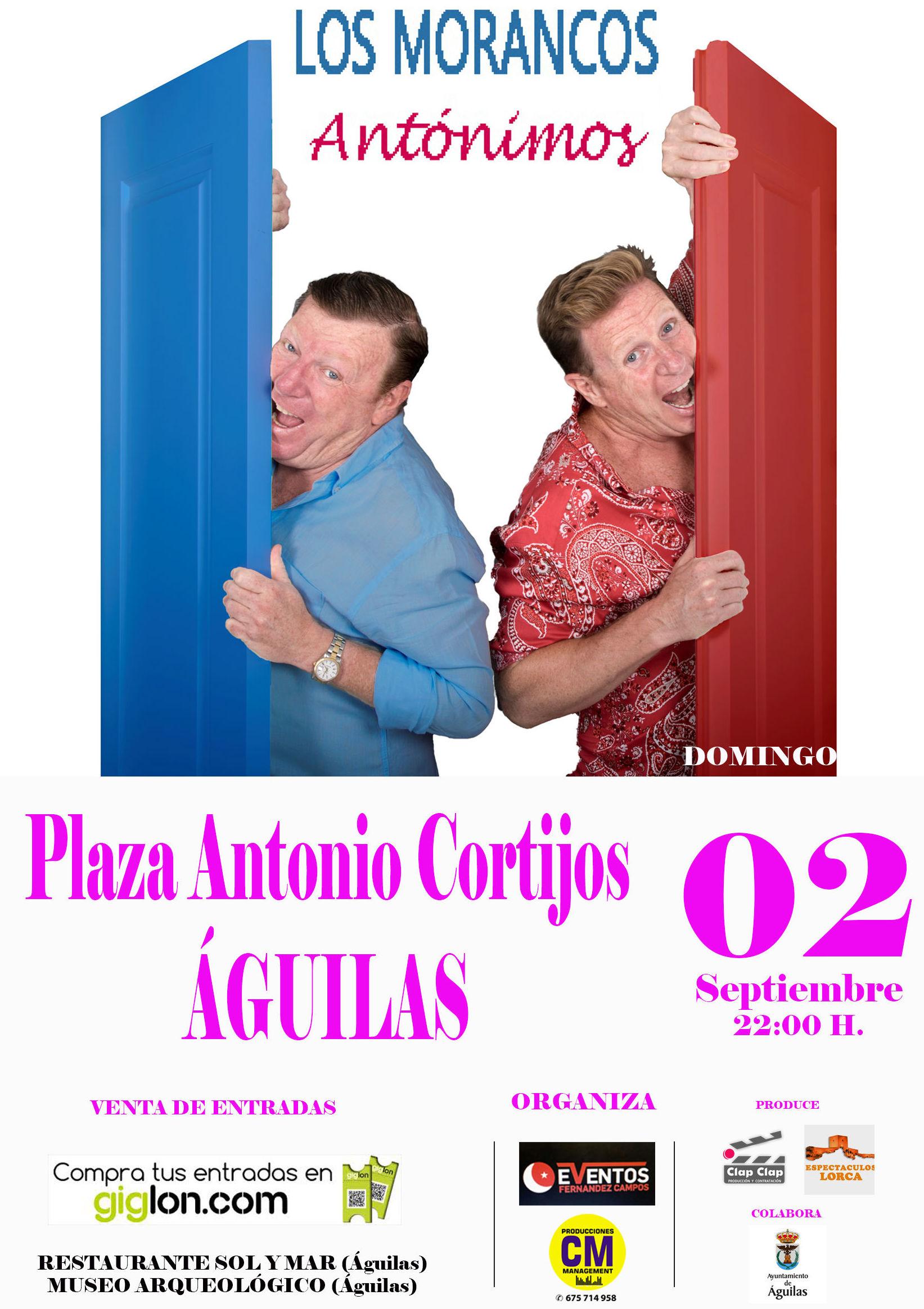 Los Morancos: Catálogo de actuaciones de Espectáculos Clap Clap Producciones, Música, Teatro y mucho más