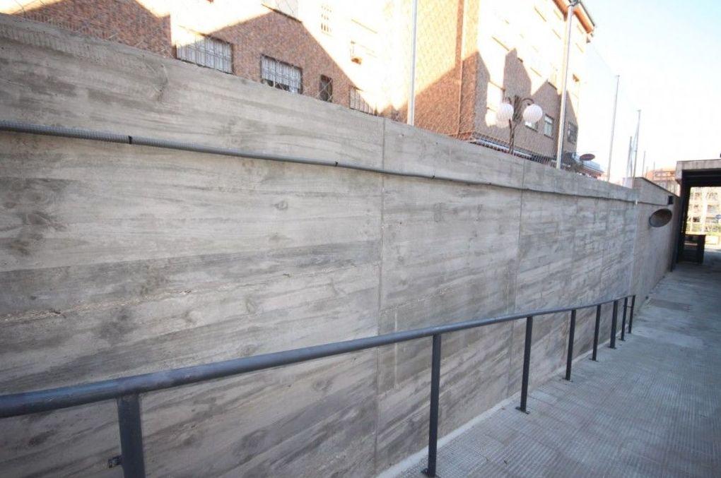 Obras de rehabilitación de estructuras de muros de contención y de carga