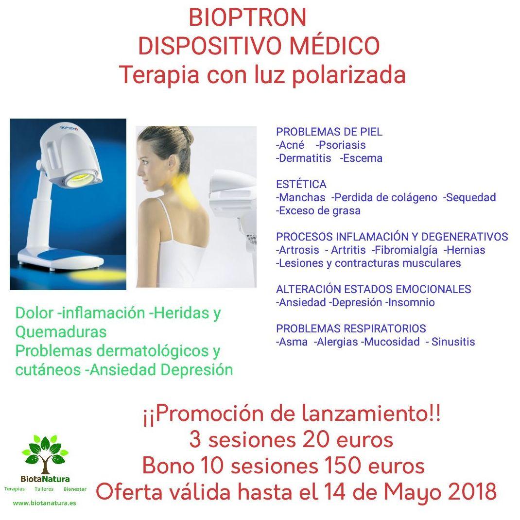 Bioptron Terapia con luz polarizada: Servicios de Biota Natura