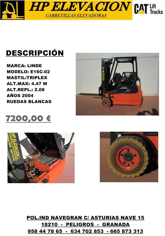 LINDE E16C-02 1600 KG