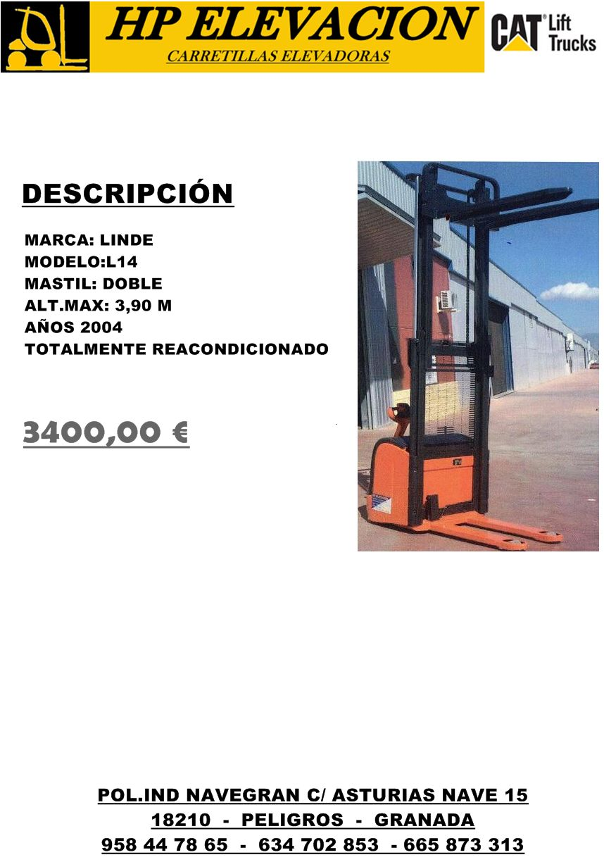 APILADOR LINDE 1400 KG