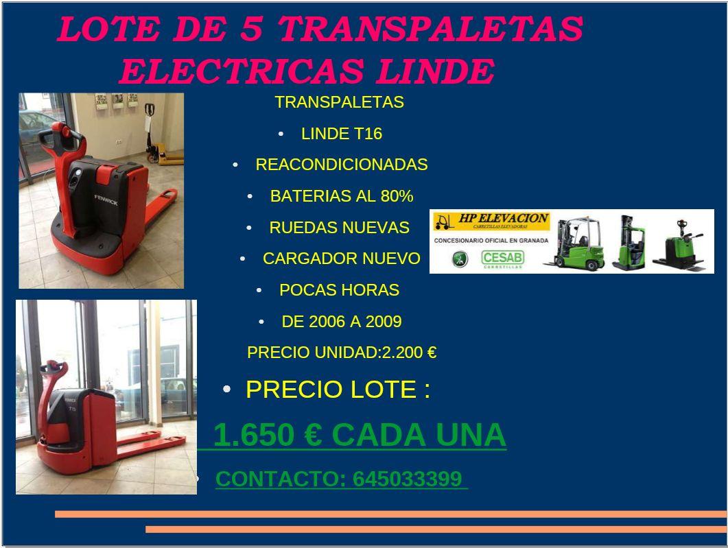TRANSPALETAS MANUALES: CATÁLOGO de HP Elevación