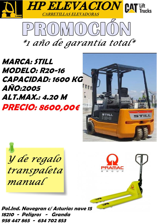 CARRETILLA ELECTRICA STILL 1600 KG