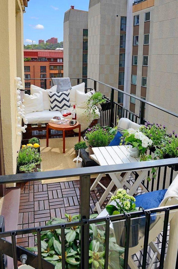 Como decorar un pequeño balcón