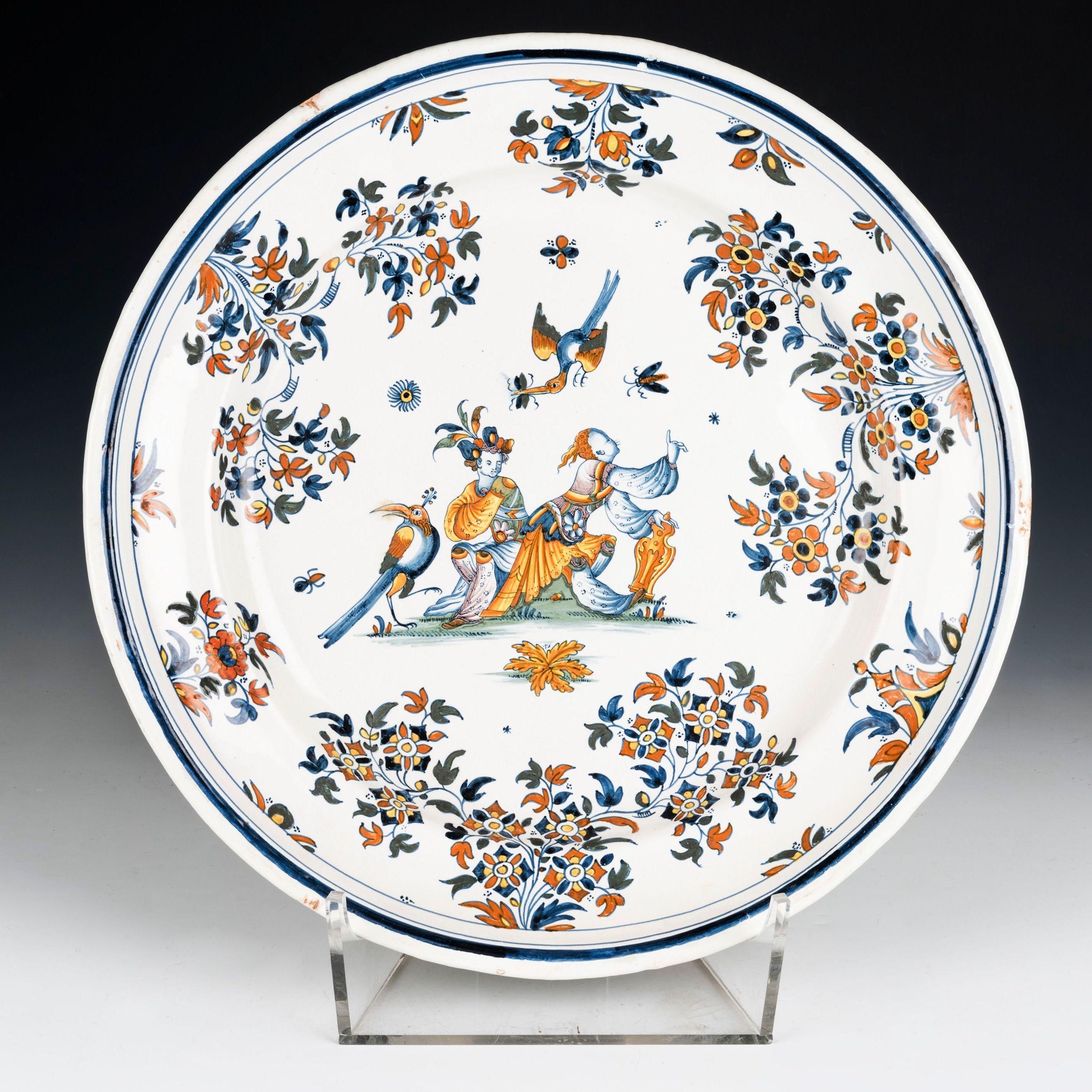 Plato de loza de Alcora: Catálogo de Goya Subastas