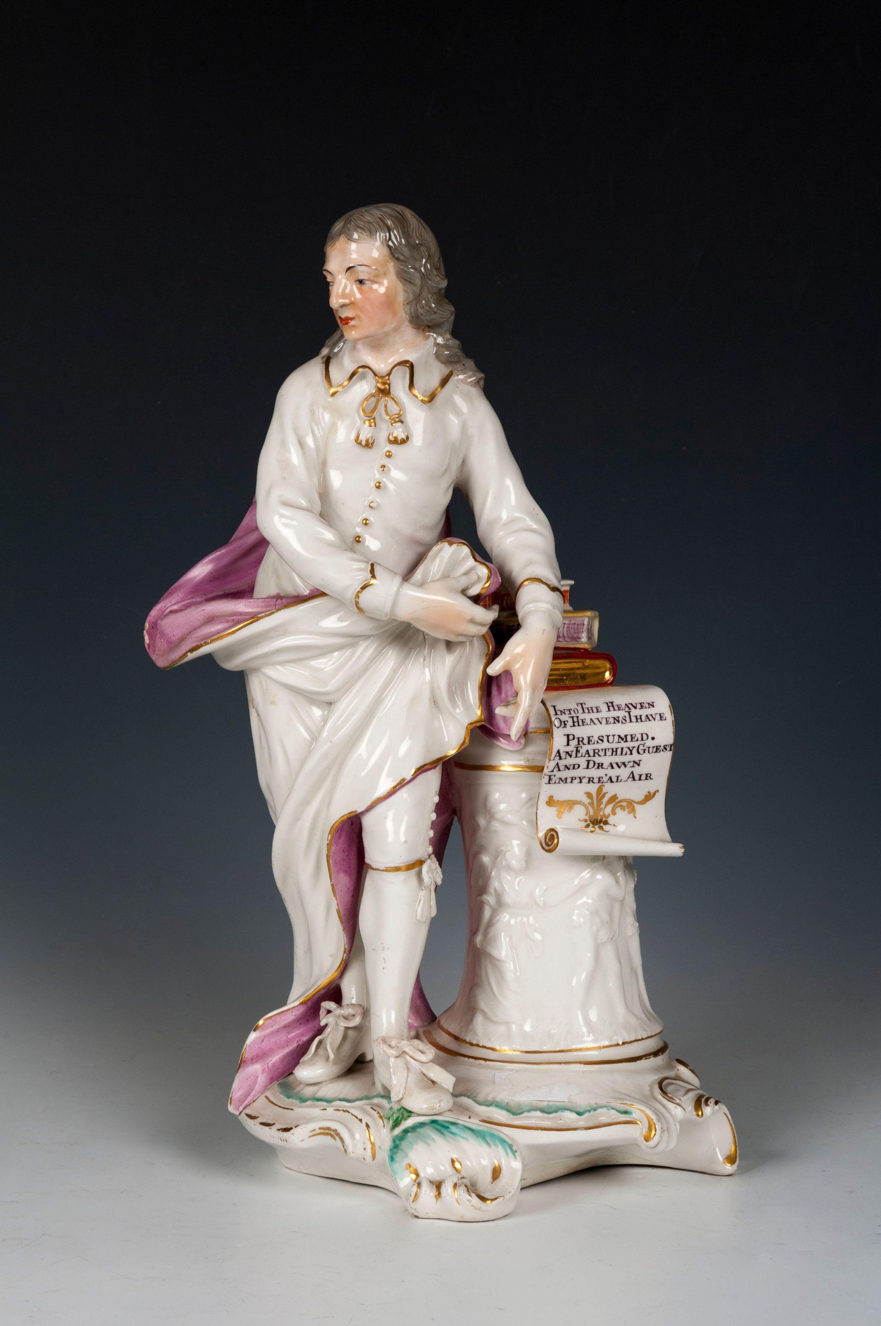 Figura del poeta John Milton: Catálogo de Goya Subastas