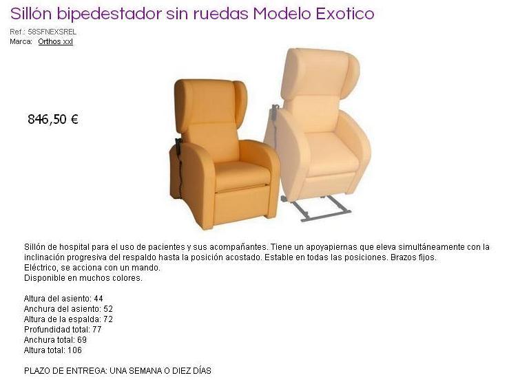 Mobiliario geriátrico