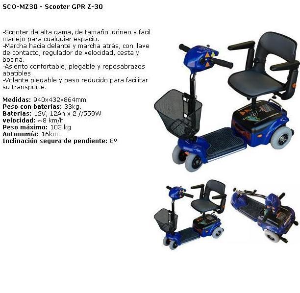 Scooters para personas con movilidad reducida.