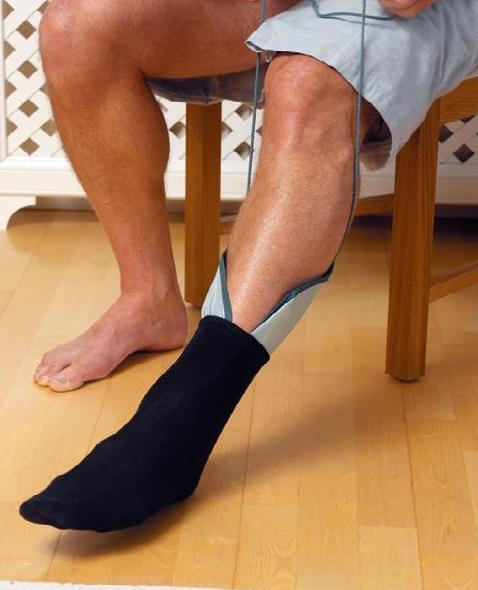 Ayudas para subirse los calcetines y las medias.