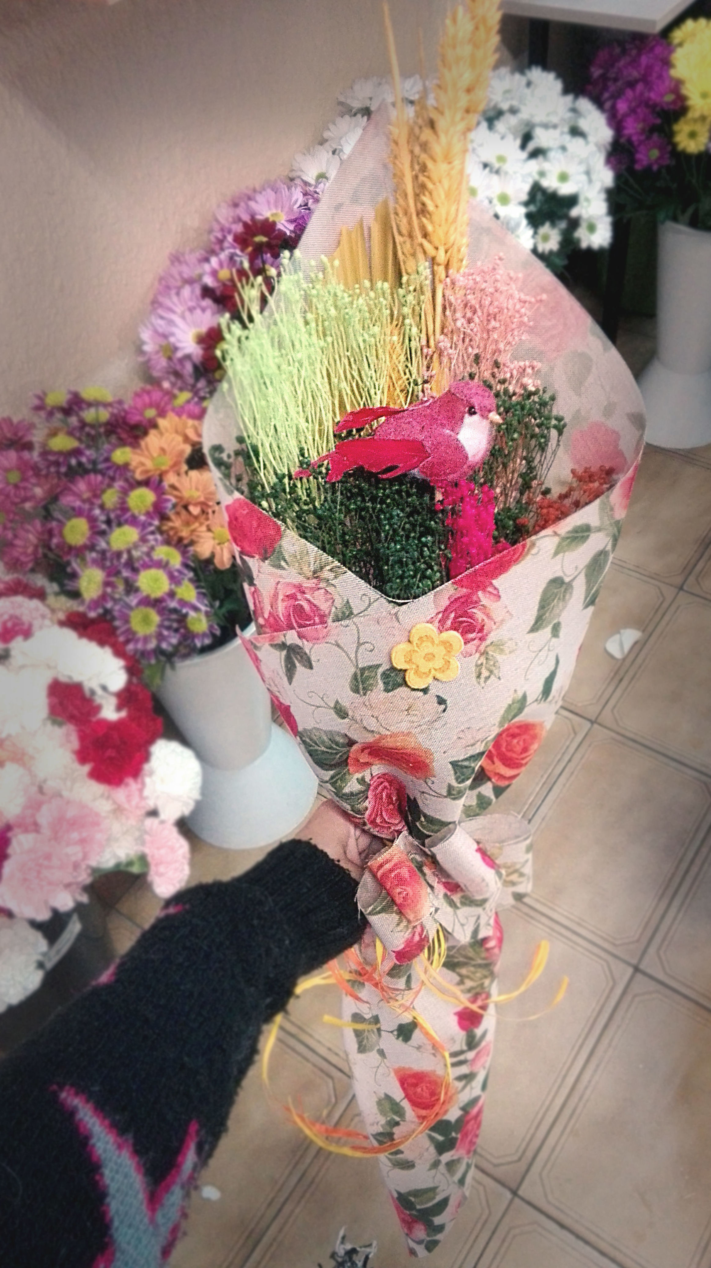 Ramos variados de flor seca