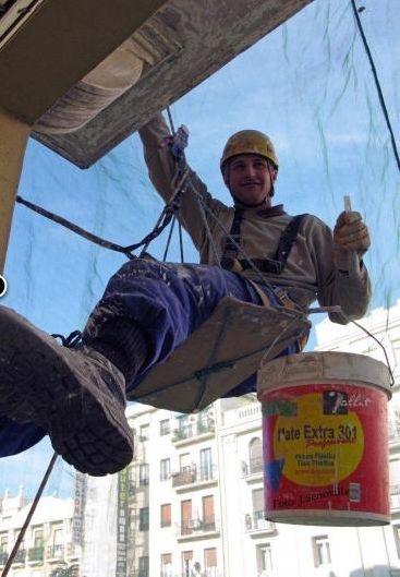 Trabajos verticales sin andamio: fachada