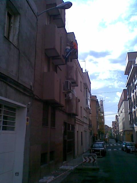 Descuelgue vertical: frente de balcones
