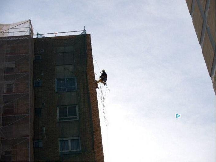 Trabajos verticales: rehabilitación de fachada
