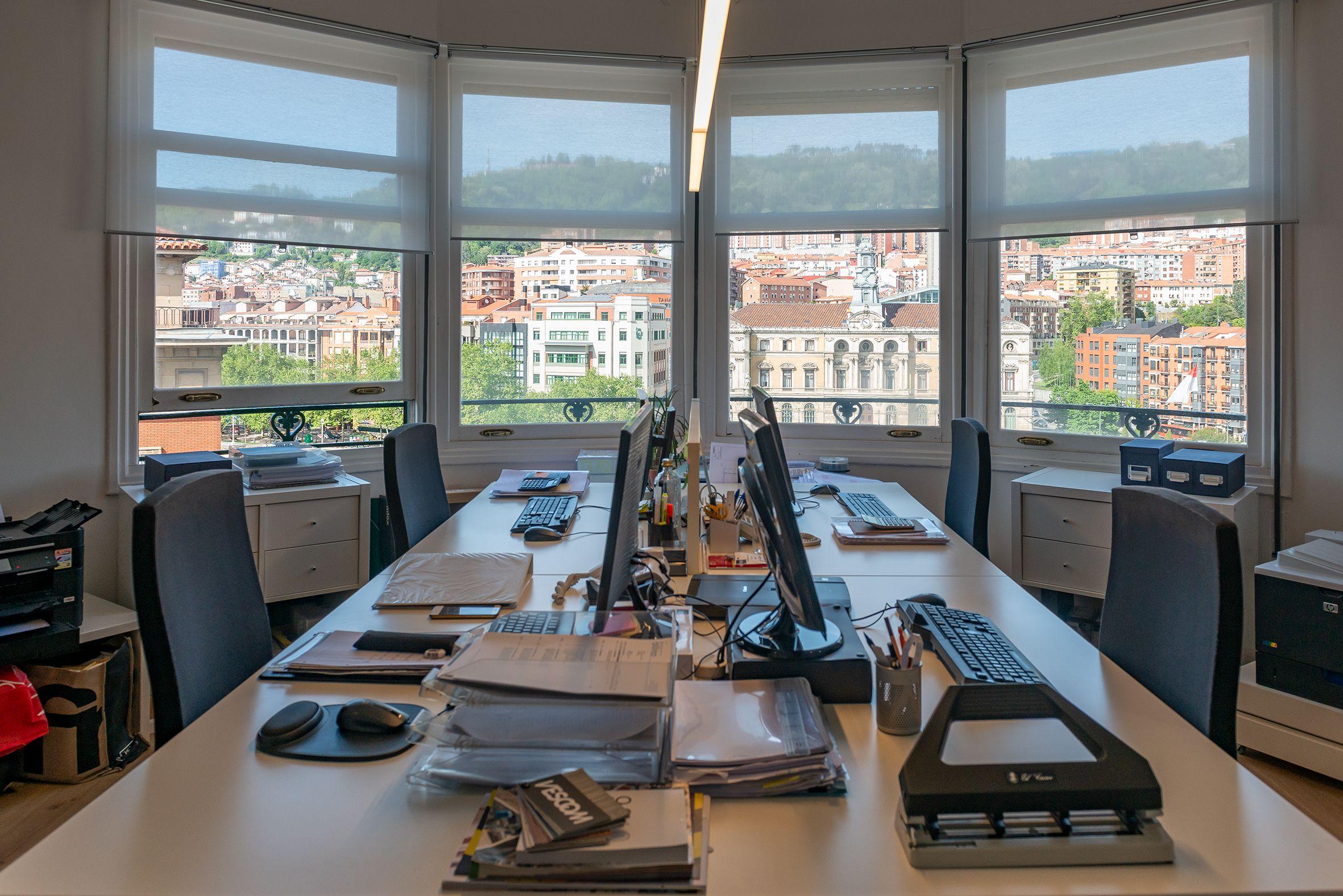 Interior de las oficinas