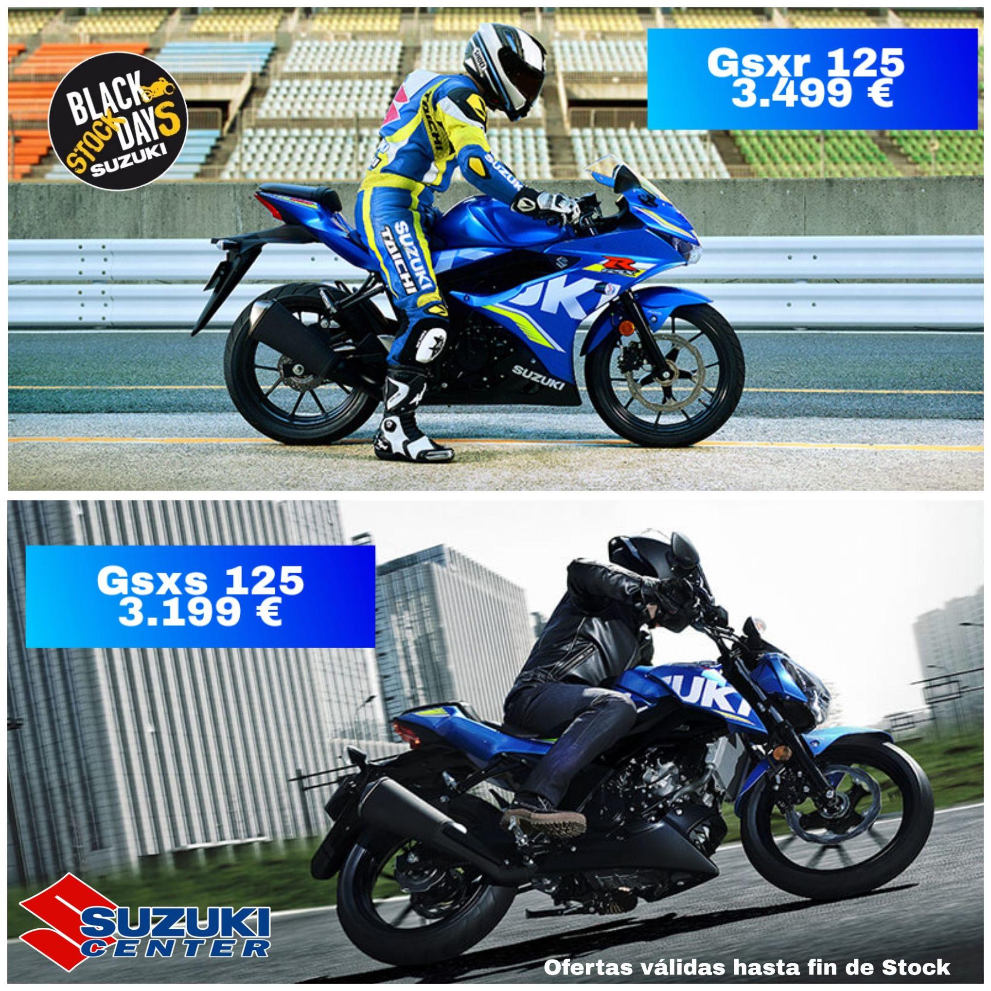 Oferta Gsxs y Gsxr 125 desde 3.199 €