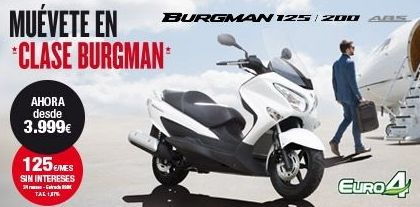 suzuki center y jarama motocicletas Burgman sin interes