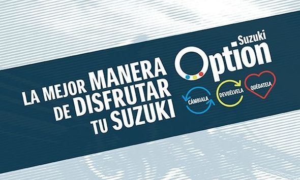 """""""Suzuki Option"""" la mejor forma de disfrutar de Suzuki"""