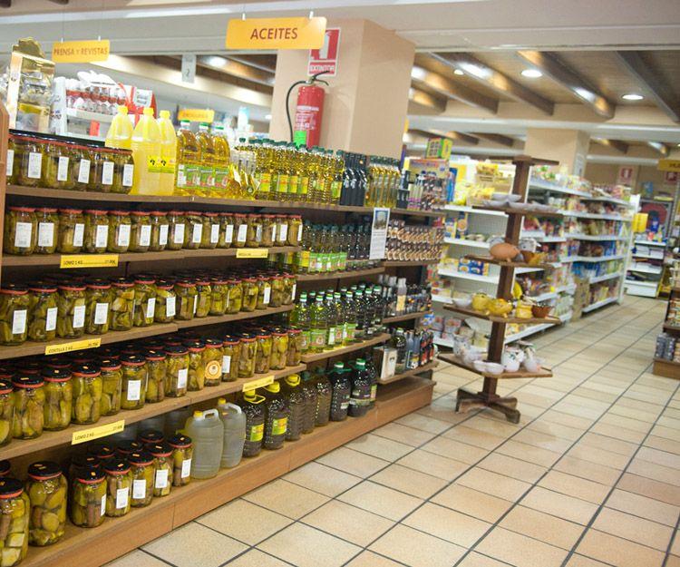 Venta de productos de la zona