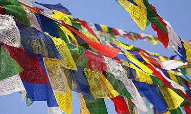 ¿Que son las banderas tibetanas?