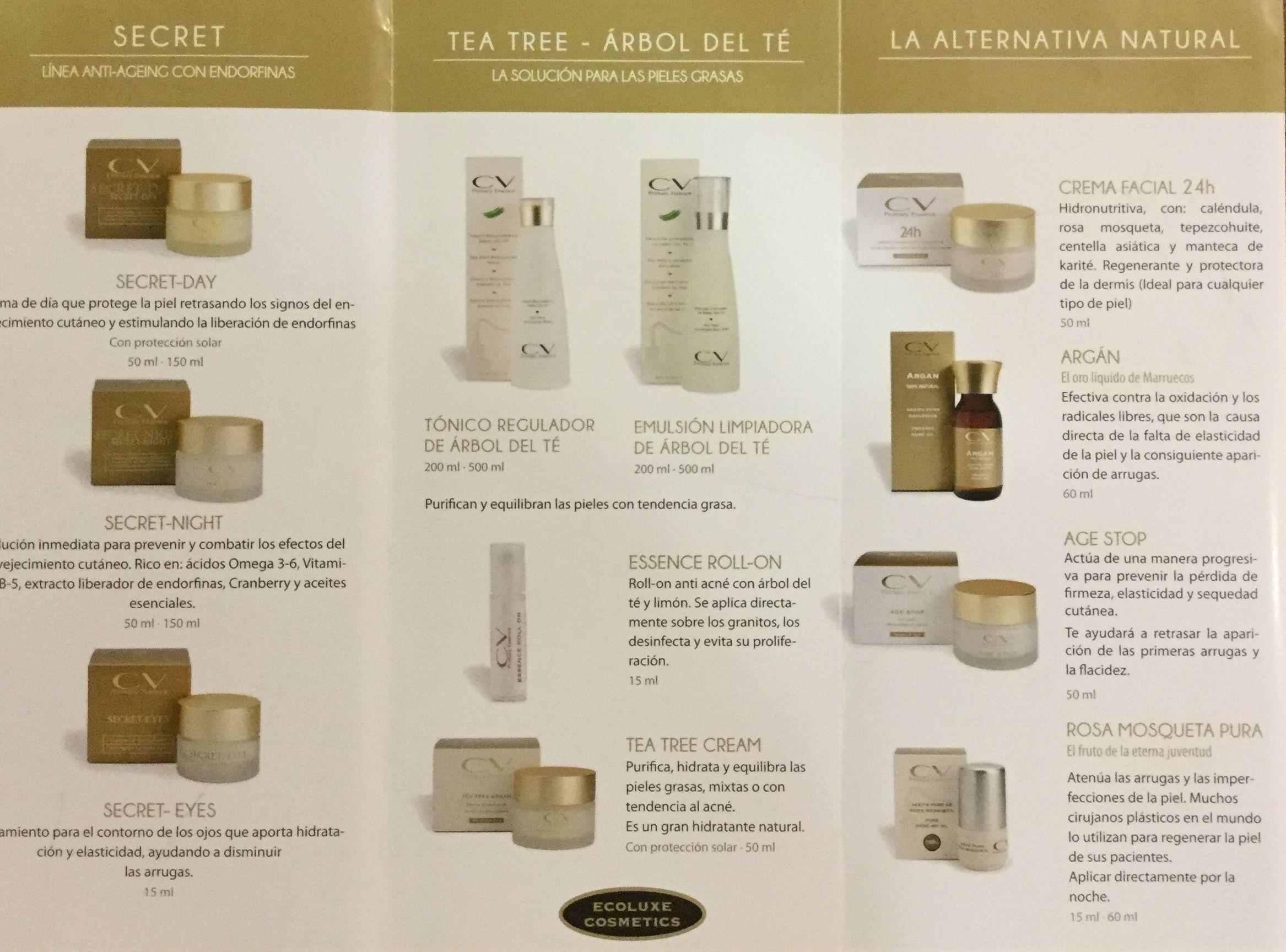 Packs cosmética natural CV primary essence: Terapias y actividades de Kumara Centro Holístico