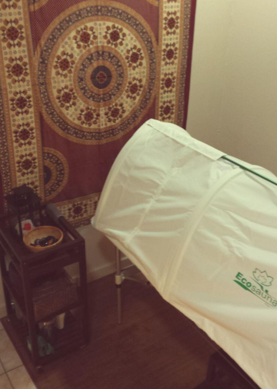 Sauna de vapor herbal ayuervédica