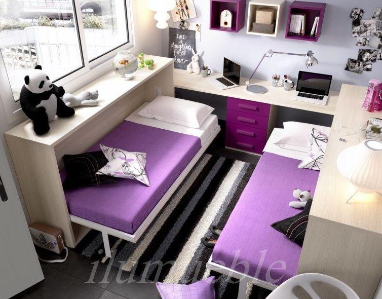 Para compartir habitación con herman@. dos amas y escritorio doble.