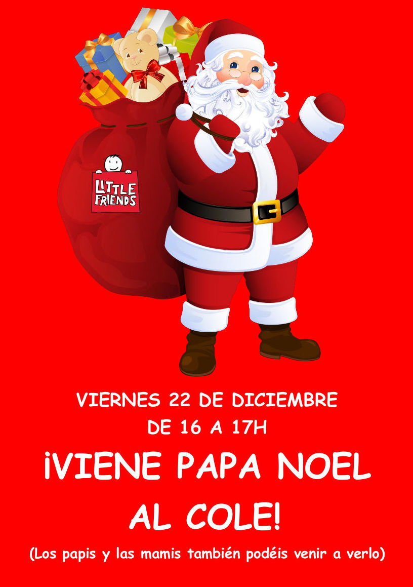 VISITA DE PAPÁ NOEL A LITTLE FRIENDS }}