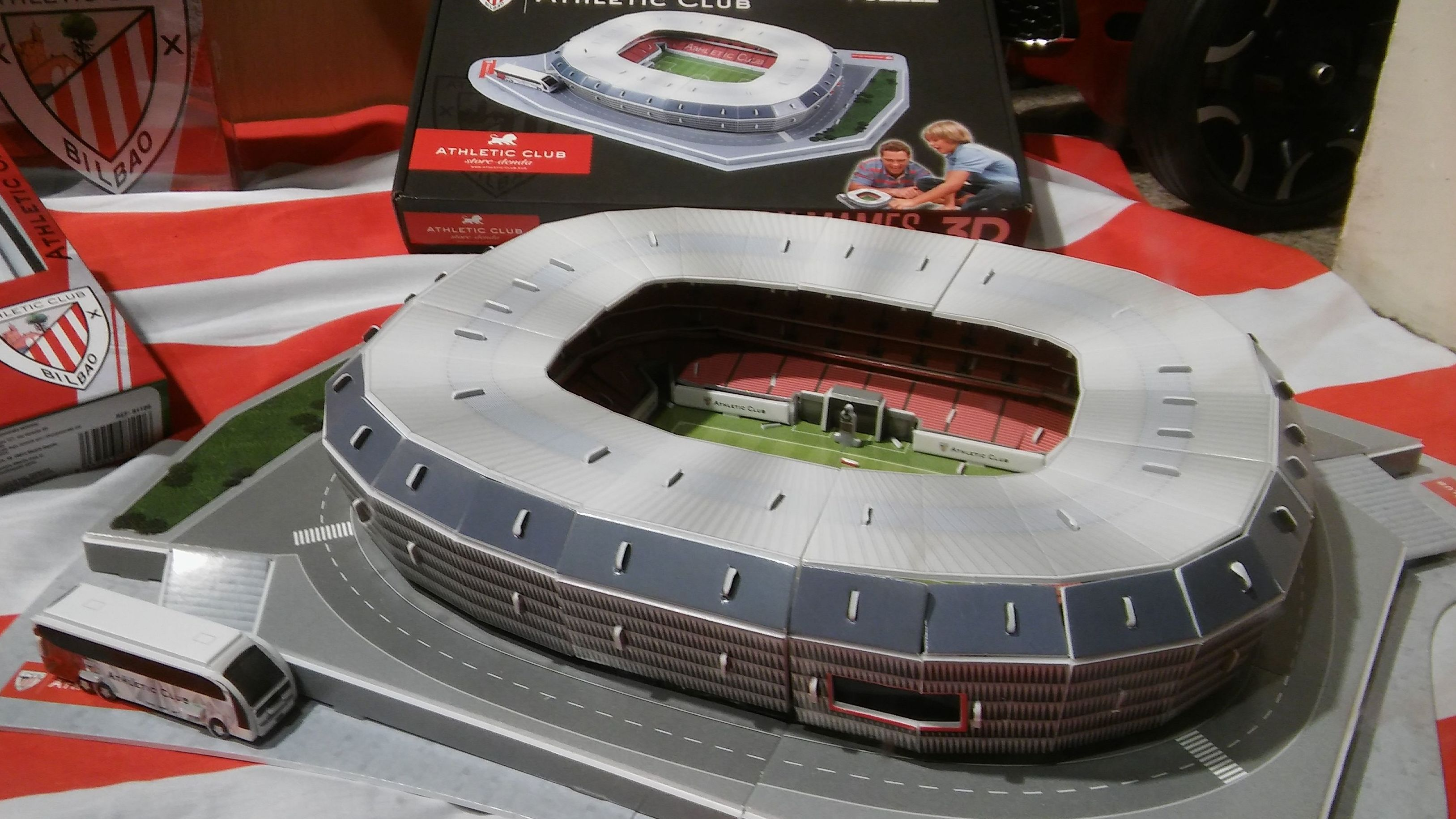 Athletic. PUZZLE ESTADIO SAN MAMES 3D