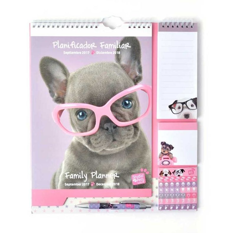 Calendario planificador familiar 2017/2018 Studio Pets Dog Camera