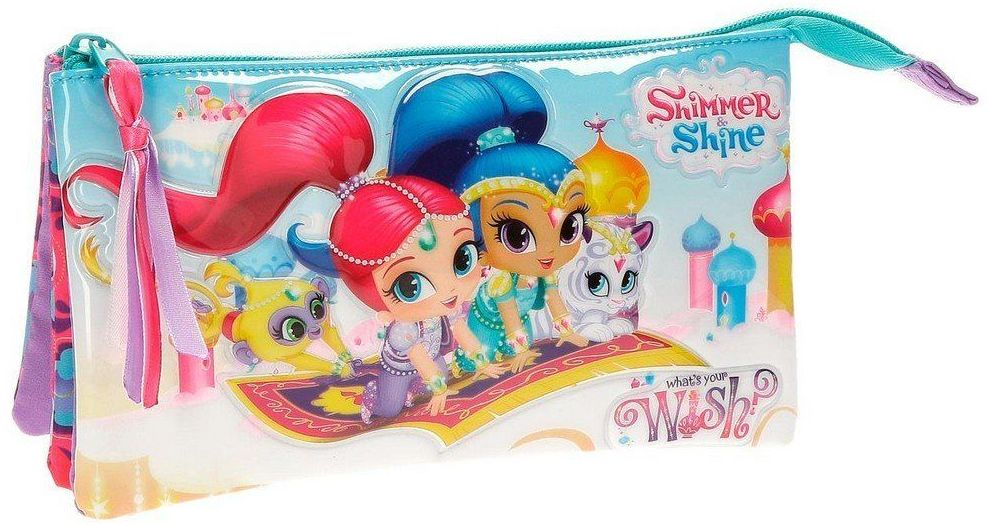 Portatodo 3 cremalleras Shimmer & Shine Wish