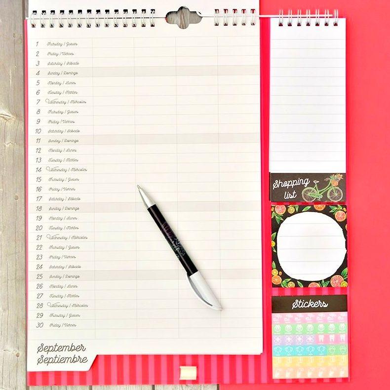 Calendario Planificador Familiar 2016/2017 Lily & Val Grupo Erik