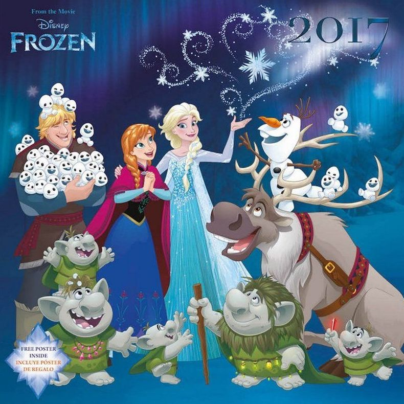 Calendario Pared 2017 Frozen
