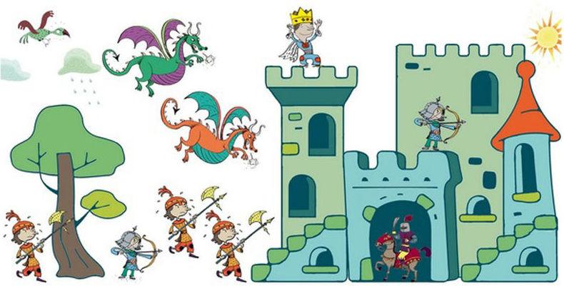 Sellos Medievales. Pinta y decora tus fantasías. Djeco. 3070900087903