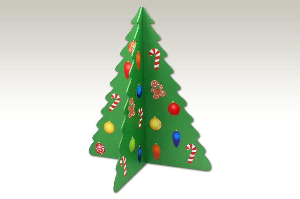 NAVIDAD. Arbol Navidad en 3D pintado y adornado con pegatinas.. (Ver NOVEDADES NAVIDAD)