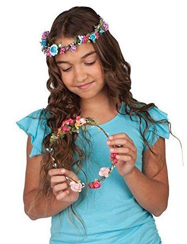 Hazte tus diademas de flores. Creativity for Kids
