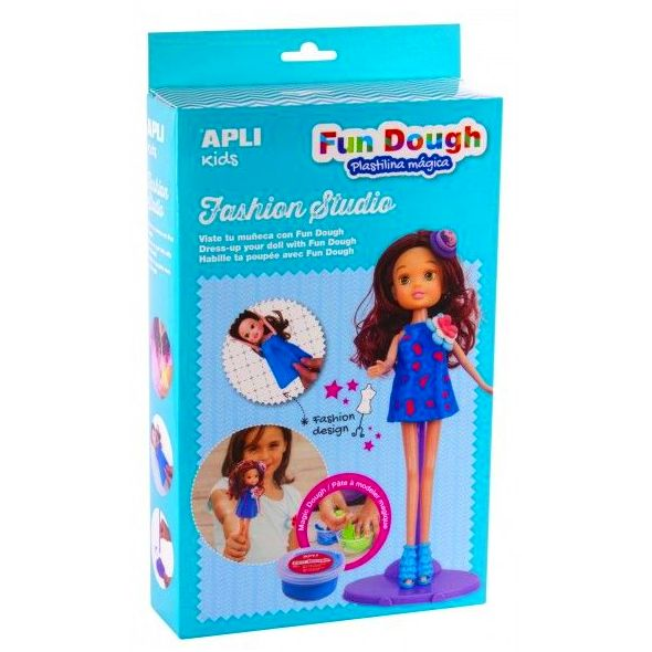 Viste tu muñeca con pasta mágica Fun Dough. Fashion Studio Kit Apli 14498