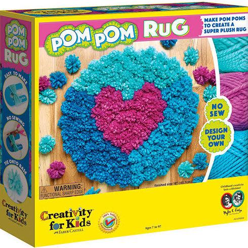 Haz tu alfombra con Pom Pom Rug. Faber Castell