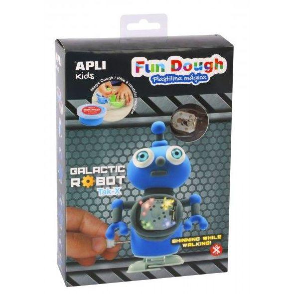 Haz un robot galáctico con pasta Fun Dough. Se Ilumina y Anda Apli 14492