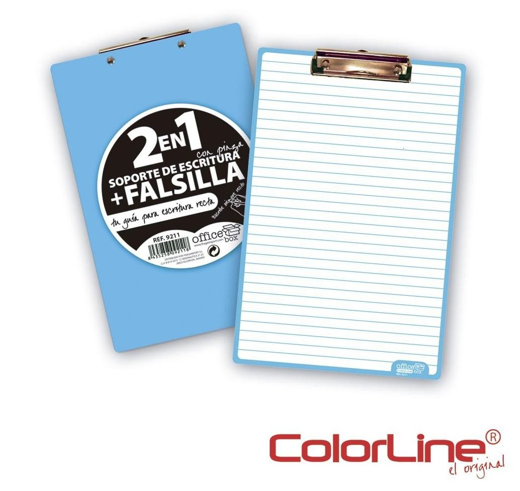 Placa carpeta con pinza. COLORLINE