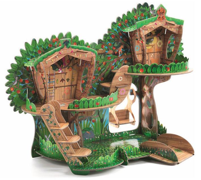 Construye una casita-árbol encantada del bosque