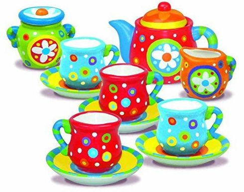 Pinta un juego de té. 4M
