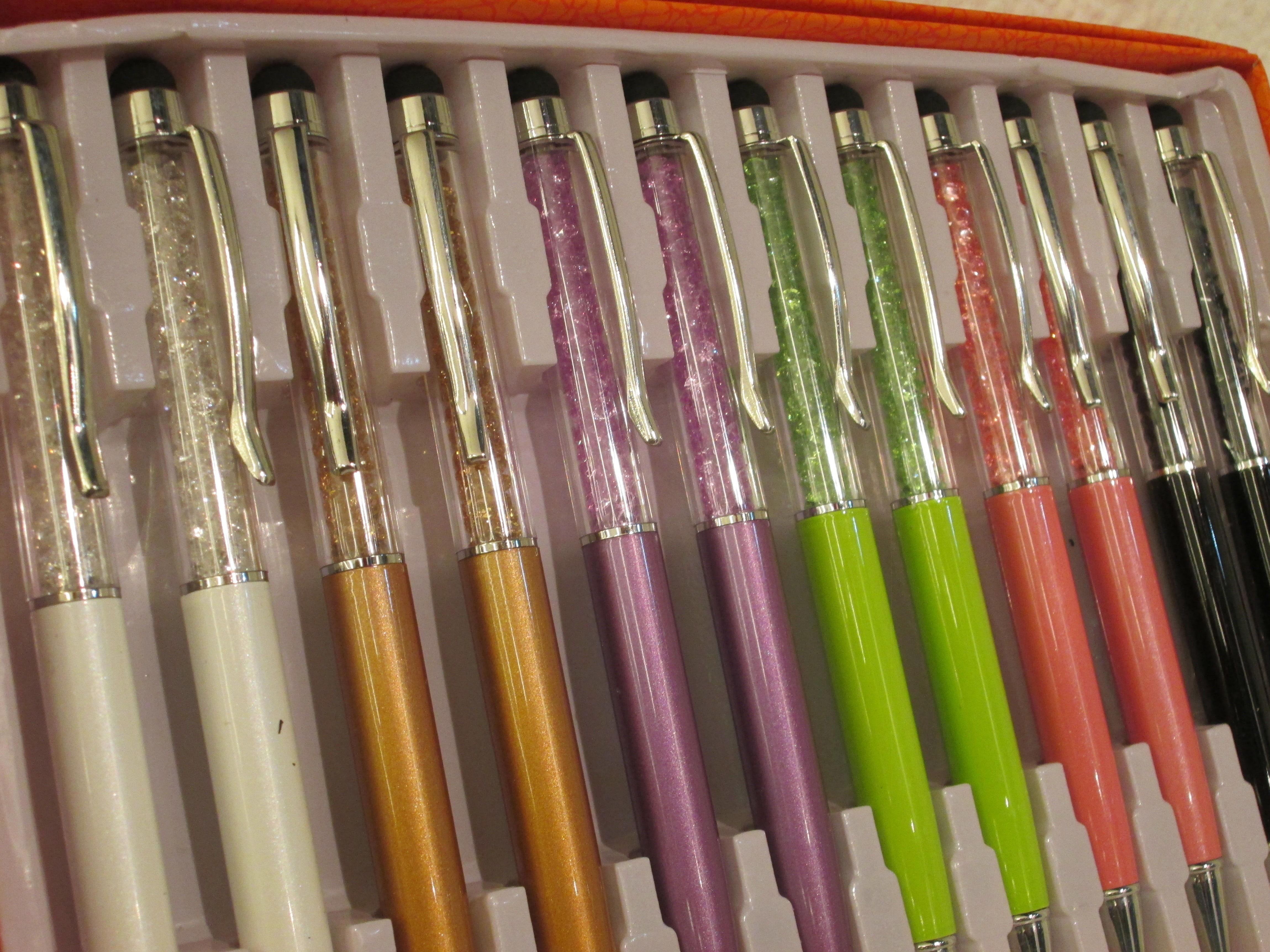 Bolígrafo de cristales