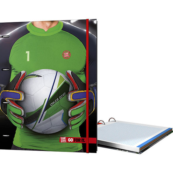 Carpeta anillas equipada ringbook carpebloc GAME OVER.GO FOR IT. GRAFOPLAST