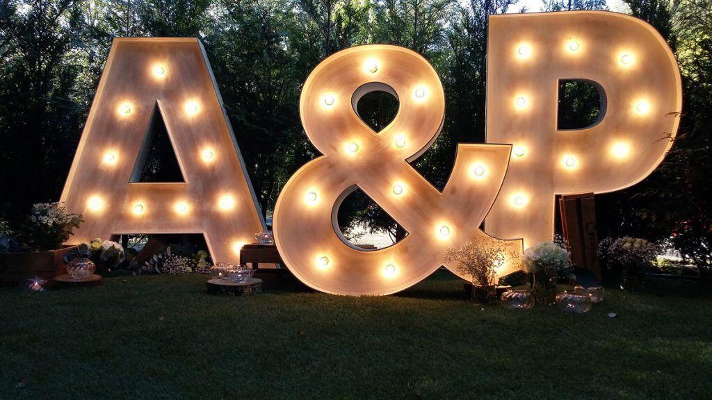 Alquiler de letras para bodas en Galicia
