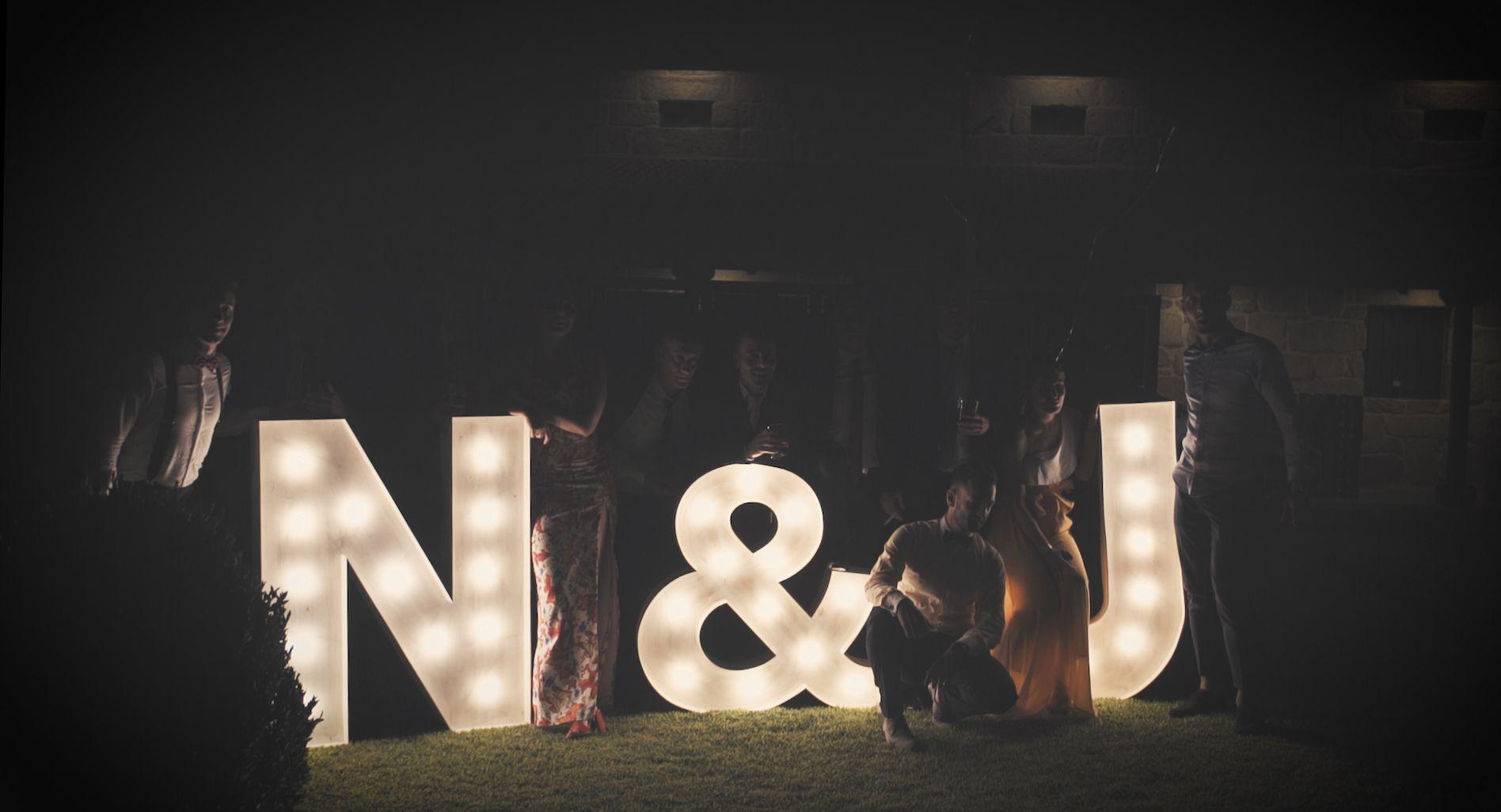 Letras luminosas para bodas en Ourense a buen precio