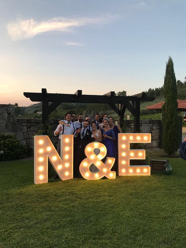 Letras luminosas para bodas en Ourense