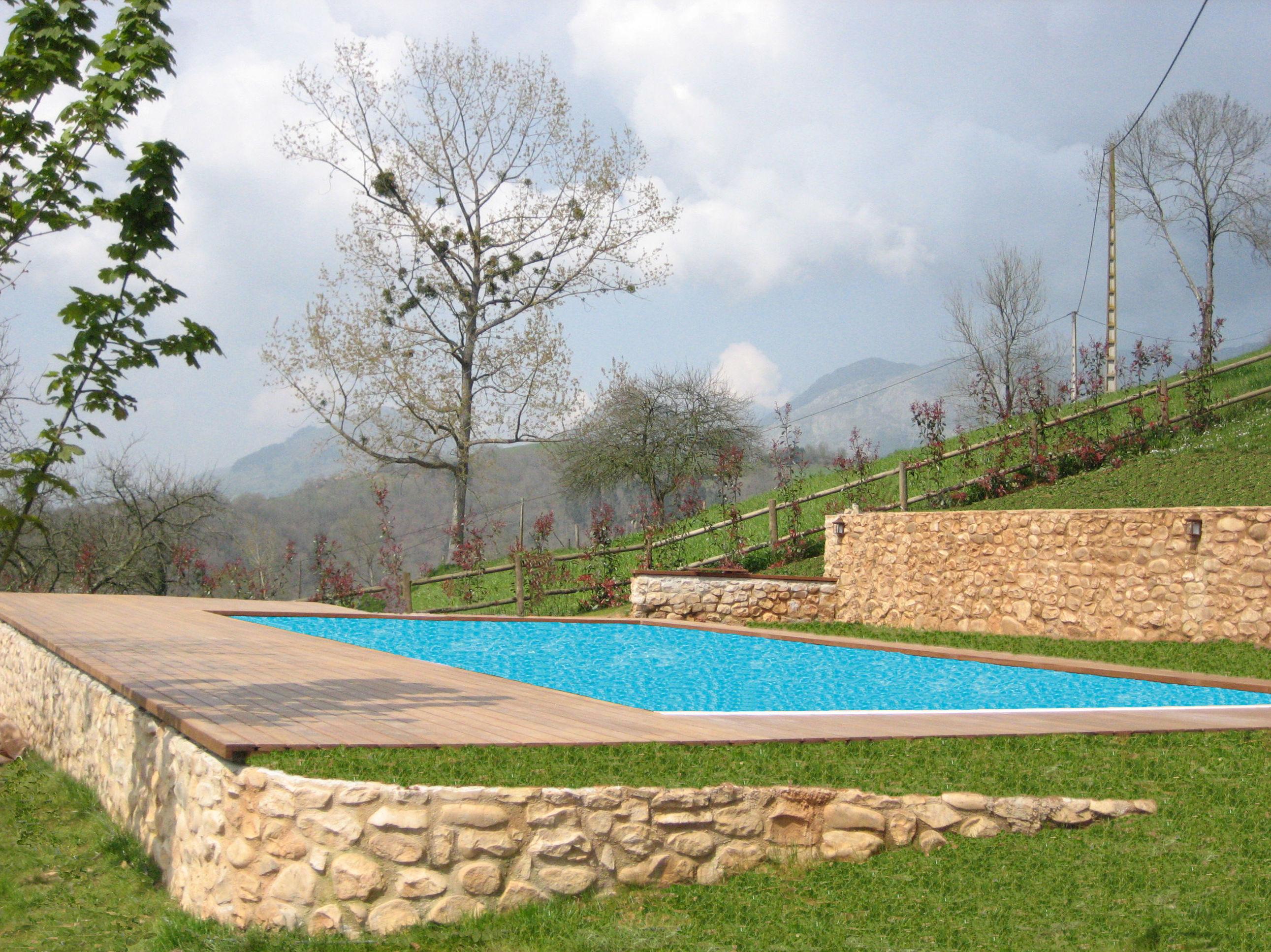 piscina tarima exterior ASTURIAS