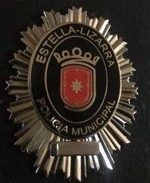 PLACA DE LA POLICIA MUNICIPAL DE LIZARRA ESTELLA