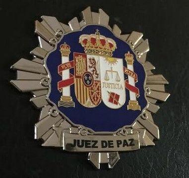 PLACA INSIGNIA DE JUEZ DE PAZ